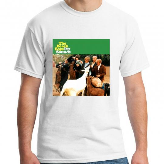 The Beach Boys Pet Sounds Pop Rock Band Album White T-SHIRT SIZE S-5XL