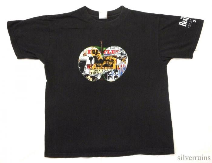 The Beatles Vintage T Shirt 90's 1996 Anthology CD Promo Apple Records Rock Band