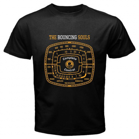 The Bouncing Souls Complete Control Punk Band Men's Black T-Shirt Size S to 3XL