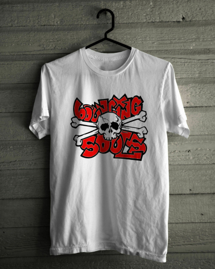 The Bouncing Souls T-Shirt, New Brunswick American punk rock band White