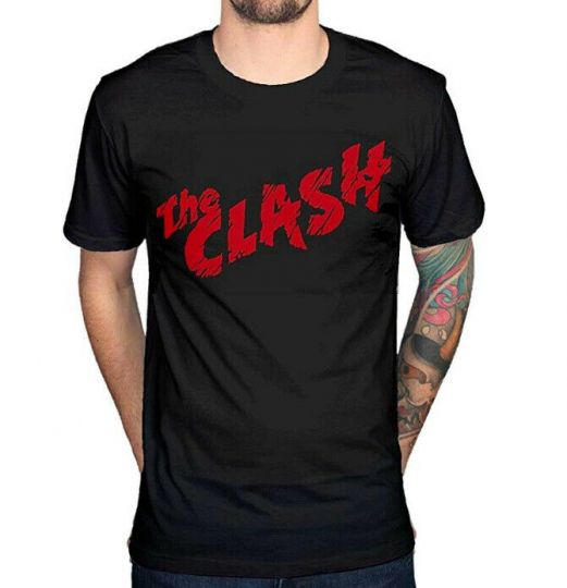 The Clash FIRST ALBUM COVER LOGO Punk Rock T-Shirt NWT Authentic
