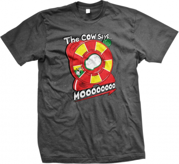 The Cow Says...MOOOOO! - Funny Hilarious Toys Slogans Statements -Mens T-shirt