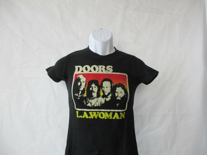 The Doors Band Concert Album LA Women T-Shirt - Black Junior Small - XL NEW