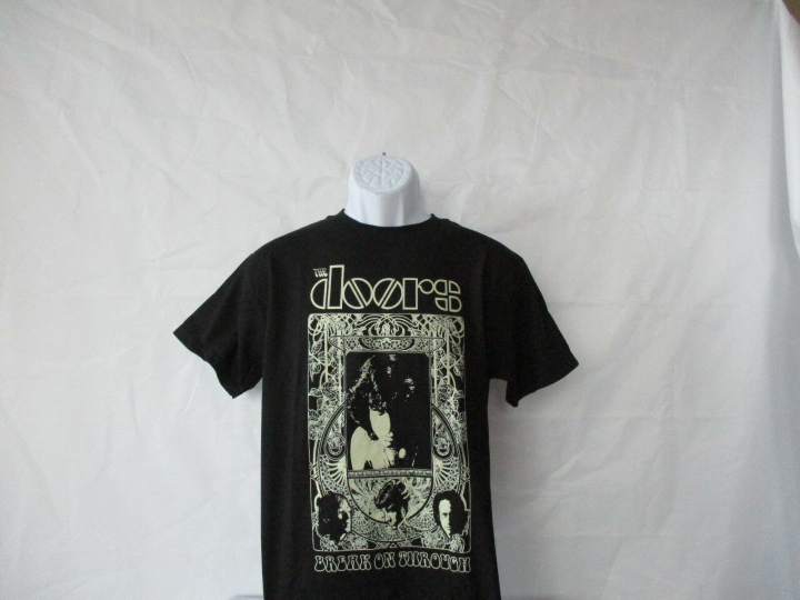 The Doors Band Concert Nouveau Silver/Gray T-Shirt - Black Junior Small - XL NEW