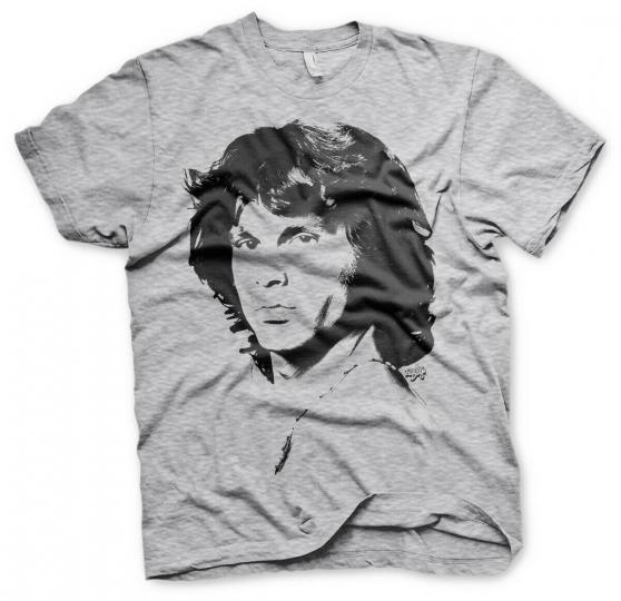 The Doors Grey Jim Morrison Profile Official Tee T-Shirt Mens Unisex