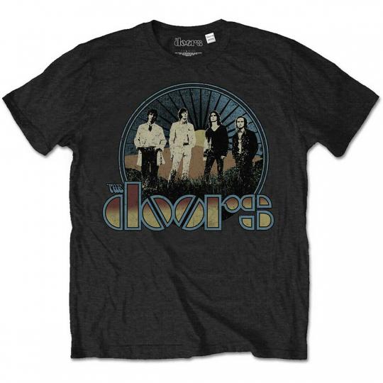 The Doors Jim Morrison Retro Band Pose Official Tee T-Shirt Mens Unisex