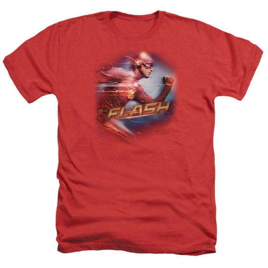 The Flash TV Show FASTEST MAN Licensed Adult Heather T-Shirt All Sizes
