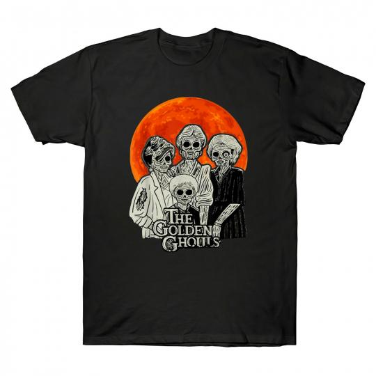 The Golden Ghouls The Golden Girls Parody Happy Halloween Vintage Men's T Shirt