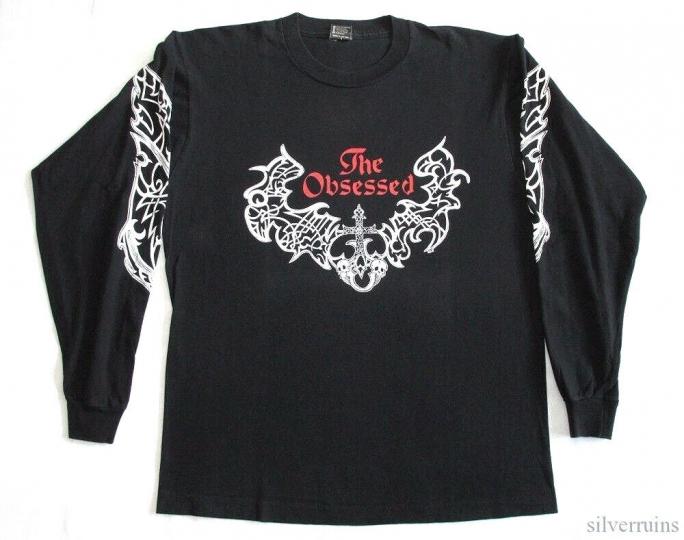The Obsessed Vintage T Shirt 90's 1992 Lunar Womb Tour Concert LS Doom Metal