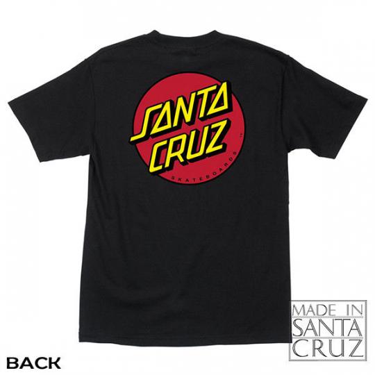The Original Santa Cruz Official Classic Dot Black Tshirt