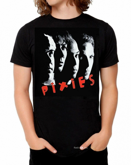 The Pixies T-Shirt Band Photo indie punk rock Official 2XL 3XL Last NWT