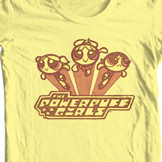 The Powerpuff Girls T-shirt retro cartoon network cotton tee CN238