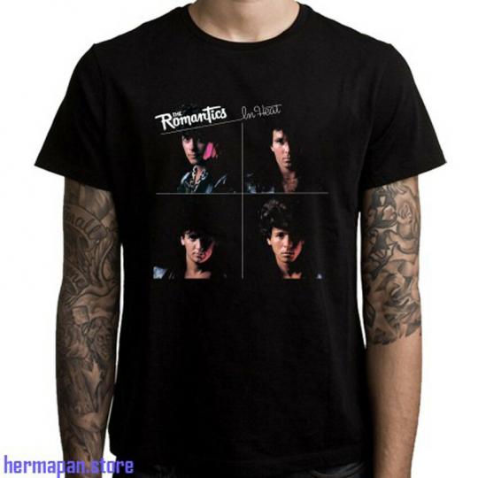 The Romantics Personels The Romantics In Heat Men's Black T-Shirt Size S to 3XL