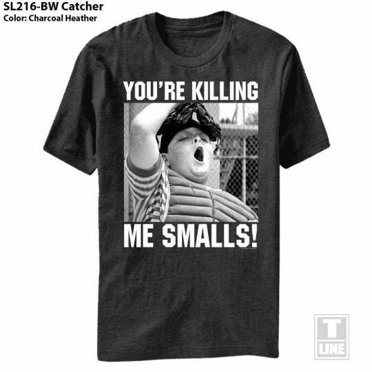 The Sandlot Bw Catcher Black Adult T-Shirt