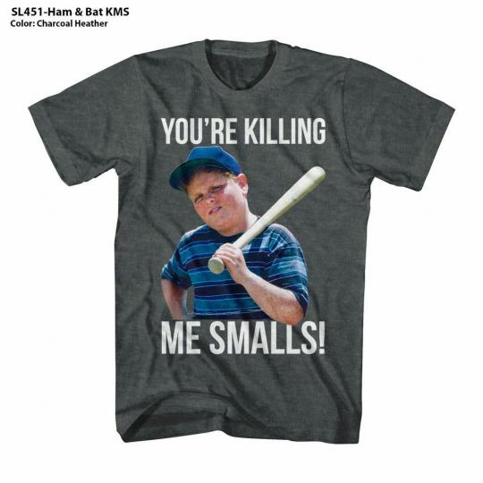 The Sandlot Ham And Bat KMS Black Heather Adult T-Shirt