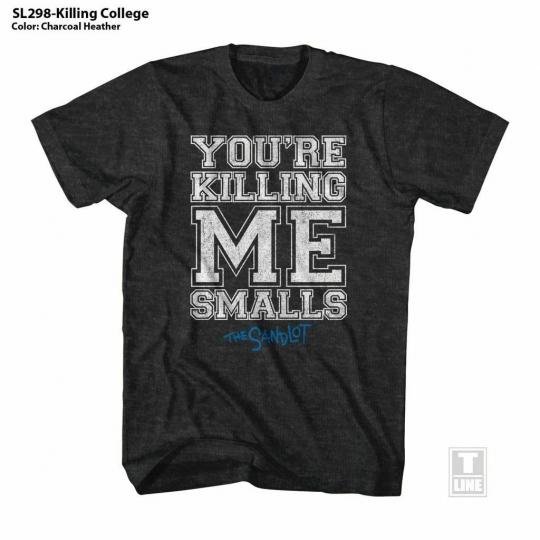 The Sandlot Killing College Black Heather Adult T-Shirt