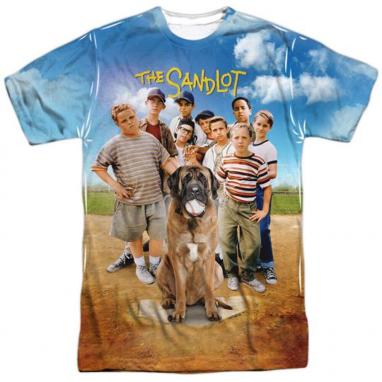 The Sandlot Movie Poster Allover Sublimation Licensed Adult T-Shirt