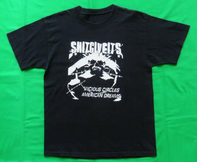 The Shitgiveits Vintage T Shirt 2000's Vicious Circles Tour Concert Punk Band