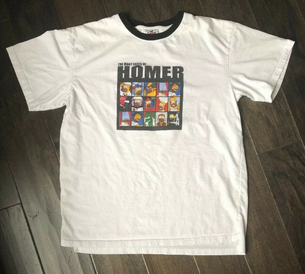 The Simpsons Many Faces of HOMER T-Shirt Size L/XL