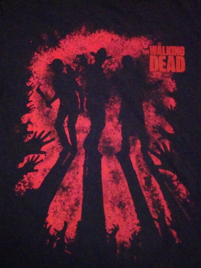 The Walking Dead TV Show Zombie Black T Shirt M