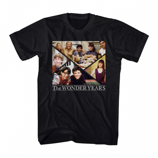 The Wonder Years TV Show Family Group Cast Collage Adult T-Shirt Tee