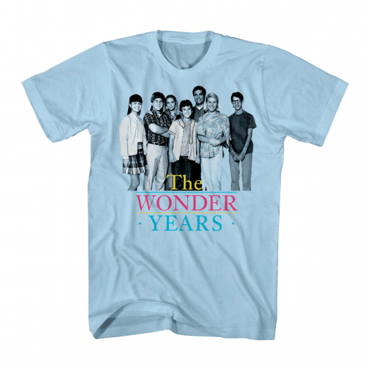 The Wonder Years TV Show Simple Group Cast Adult blue T-Shirt Tee