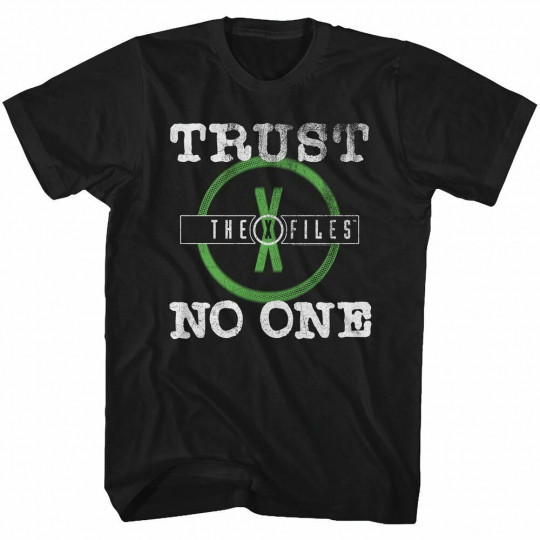 The X-Files TV Show TRUST NO ONE Science Fiction Tee Black Cotton Sizes SM - 5XL