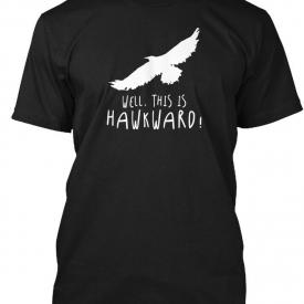 This Is Hawkward! Puns, Jokes, Funny Hanes Tagless Tee T-Shirt