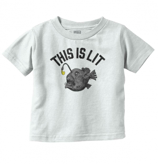 This Is Lit Anglerfish Funny Fisherman Gift Youth Toddler T-Shirt Tees Tshirts