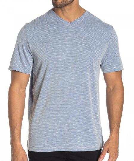 Tommy Bahama Men's Short Sleeve Island Drive V Neck Tee Shirt Bright Cobalt