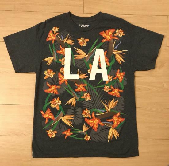 Tony HAWK Size L LA Floral Logo T-Shirt