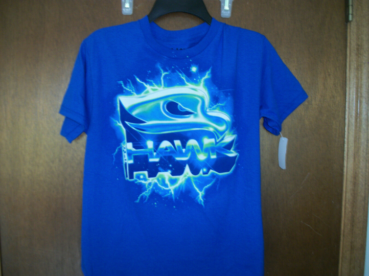 Tony Hawk Blue with Hawk Logo  T-Shirt Size Medium NWT Youth