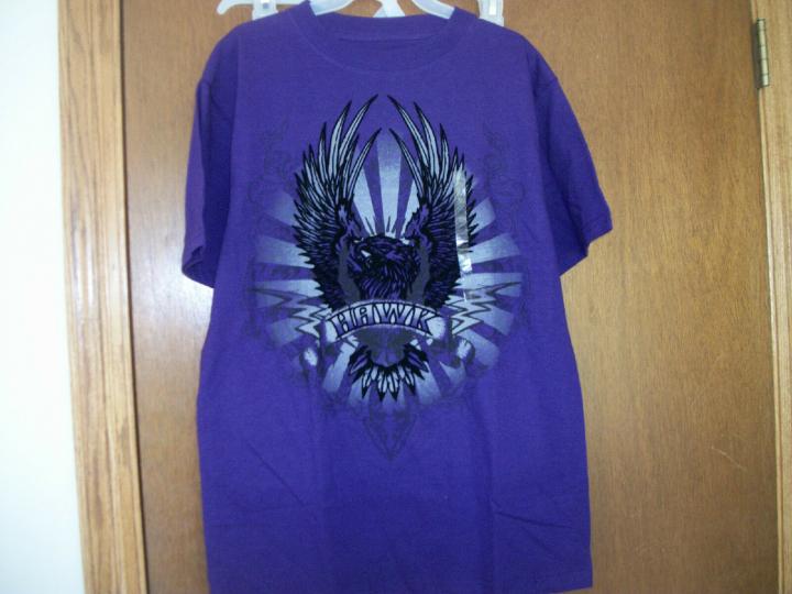 Tony Hawk purple large Hawk Graphic T-shirt New Tags  Youth SZ 8