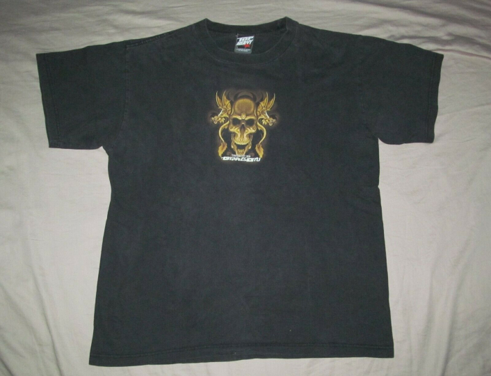 Top Heavy Year of the Dragon Vintage early 2000s black T shirt Men's L Large
