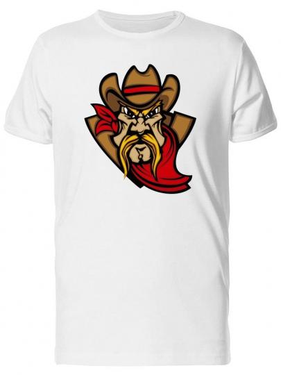 Tough Cowboy Cartoon, Retro Men's Tee -Image by Shutterstock