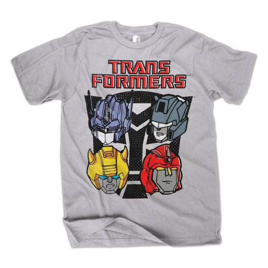 Transformers Autobot Faces Silver T-Shirt