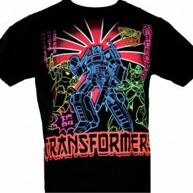 Transformers OPTIMUS PRIME NEON Mens S M L XL t-shirt Short Sleeve New Made 2012