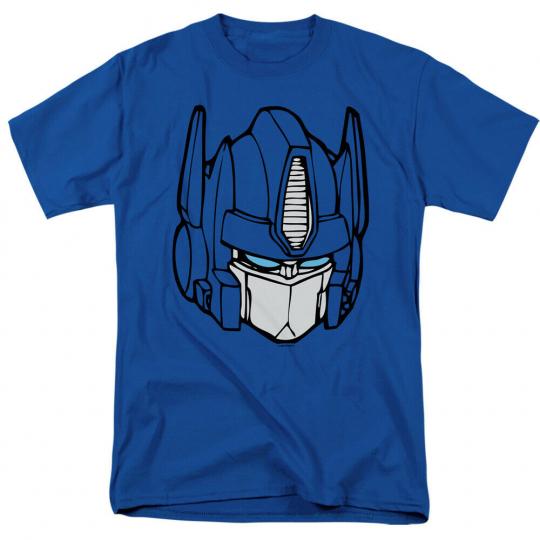 Transformers Optimus Head Short Sleeve T-Shirt Licensed Graphic SM-5X
