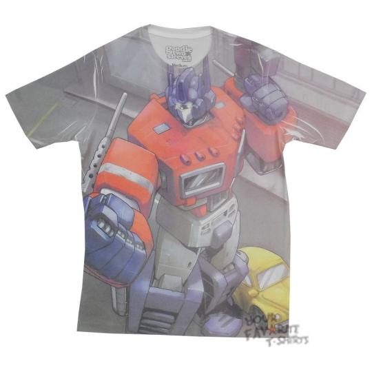 Transformers Optimus Prime Stance Autobot Sublimation Licensed Adult T-Shirt