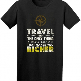 Travel Only Thing You Buy Quote Men's Tee -Image by Shutterstock
