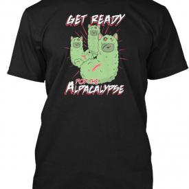 Trendsetting Zombie Alpaca Lips Halloween Pun Llama Hanes Tagless Tee T-Shirt