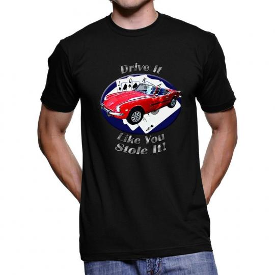 Triumph Spitfire Drive It Men`s Dark T-Shirt