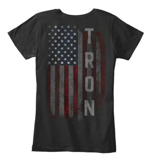 Tron Family American Flag Women's Premium Tee T-Shirt