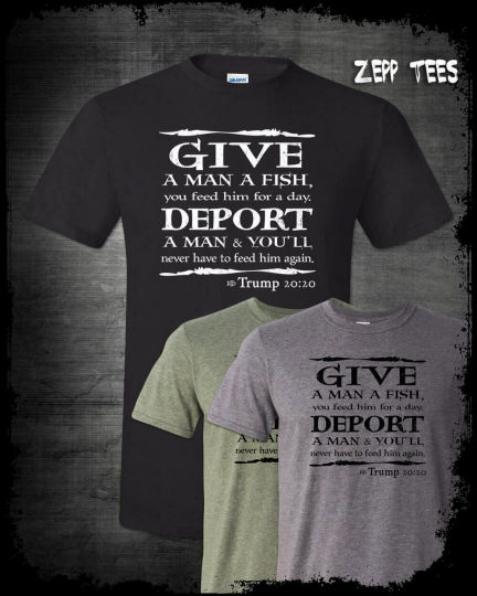 Trump 2020 Shirt Bible Verse Immigration Meme Build Wall Funny Religious MAGA