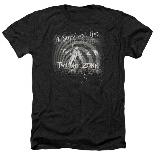 Twilight Zone TV Show I SURVIVED the TWILIGHT ZONE Heather T-Shirt All Sizes