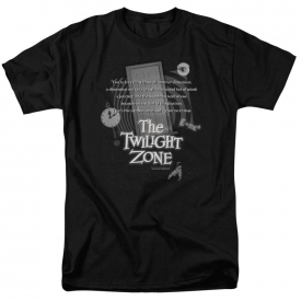 Twilight Zone TV Show Opening Monologue Licensed T-Shirt All Sizes