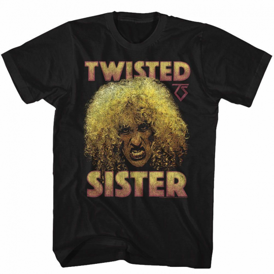 Twister Sister T-Shirt Dee Snyder Face 80s Rock Logo Music Black CottonSM - 5XL