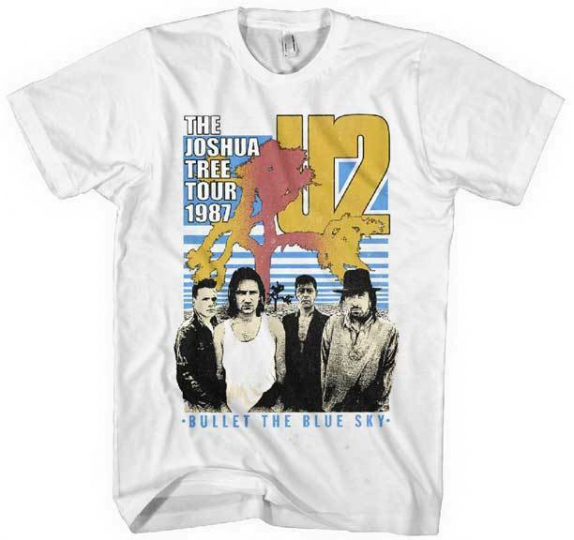 U2 Bullet The Blue Sky Rock Alternative Pop Music Band Tree Mens T Shirt 2U138