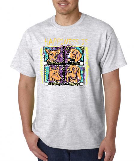 USA Made Bayside T-shirt Music Choir Happiness Is Sprano Alto Tenor Bass