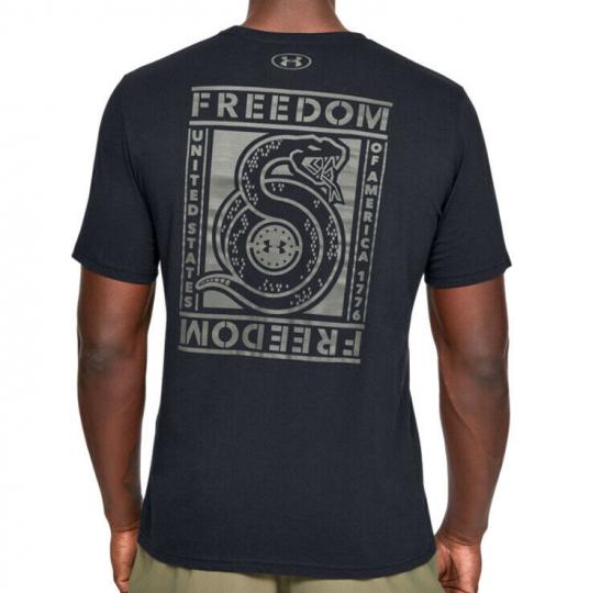Under Armour UA Freedom Unbroken Snake Men's HeatGear® Cotton Black T-Shirt